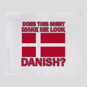 Danish flag designs Throw Blanket