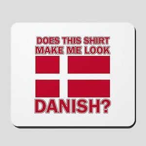 Danish flag designs Mousepad