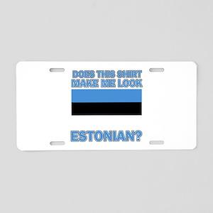Estonian flag designs Aluminum License Plate
