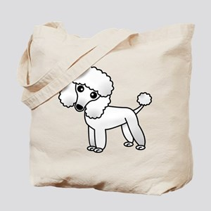 Cute White Poodle Tote Bag