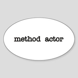 Method Actor Oval Sticker