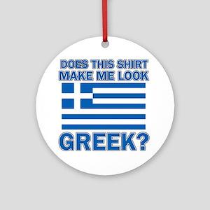 Greek flag designs Ornament (Round)