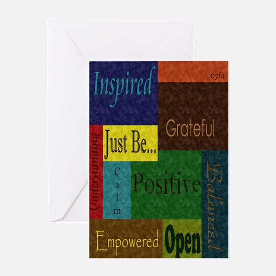 Just be.. poster large Greeting Card