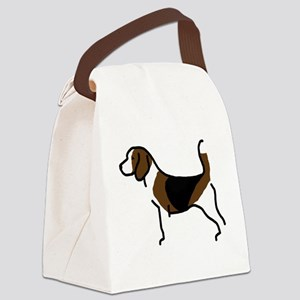 Beagle Canvas Lunch Bag