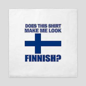 Finnish flag designs Queen Duvet