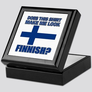 Finnish flag designs Keepsake Box