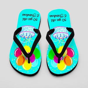 UNIQUE 50TH Flip Flops