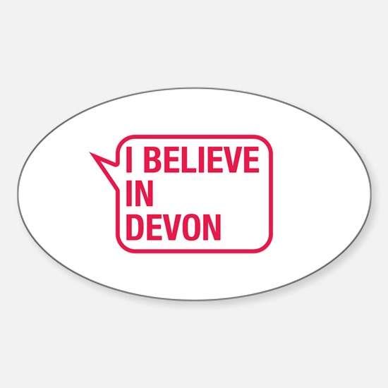 I Believe In Devon Decal