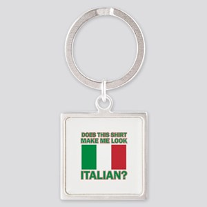 Italian flag designs Square Keychain