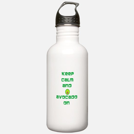 Keep Calm and Avocado On Water Bottle