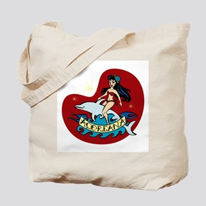 Azores Dolphin Girl Tote Bag