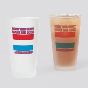 Luxembourger flag designs Drinking Glass