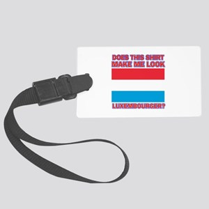 Luxembourger flag designs Large Luggage Tag