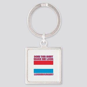 Luxembourger flag designs Square Keychain