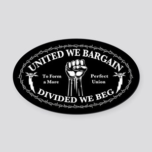 bargain-beg-T Oval Car Magnet