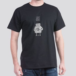 Robot Knitting dark T-Shirt