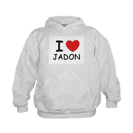 I love Jadon Kids Hoodie