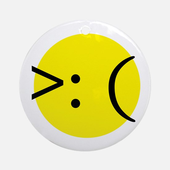 Angry Emotion Ornament (Round)