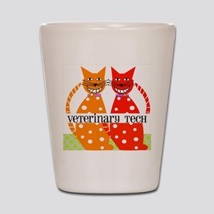 vet tech 3 Shot Glass