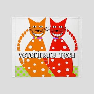 vet tech 3 Throw Blanket