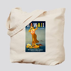 Vintage Hawaiian Travel Tote Bag