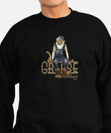 Funny Grease Monkey Mechanic Sweatshirt (dark)