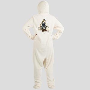 Funny Grease Monkey Mechanic Footed Pajamas