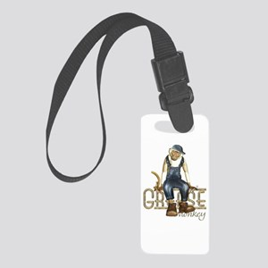 Funny Grease Monkey Mechanic Small Luggage Tag