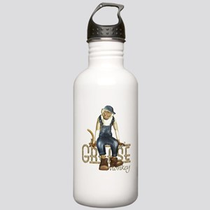 Funny Grease Monkey Mechanic Stainless Water Bottl