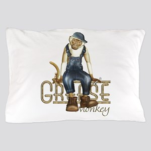 Funny Grease Monkey Mechanic Pillow Case