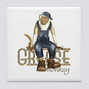 Funny Grease Monkey Mechanic Tile Coaster