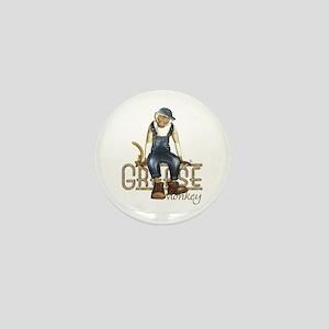 Funny Grease Monkey Mechanic Mini Button