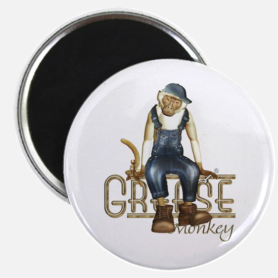 Funny Grease Monkey Mechanic Magnet