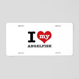 I love my Angelfish Aluminum License Plate