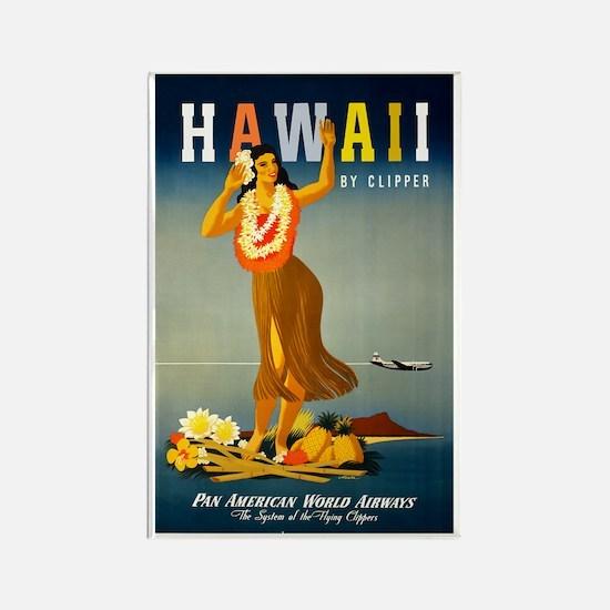 Vintage Hawaiian Travel Rectangle Magnet