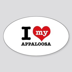 I love my Appaloosa Sticker (Oval)