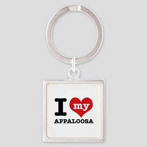 I love my Appaloosa Square Keychain