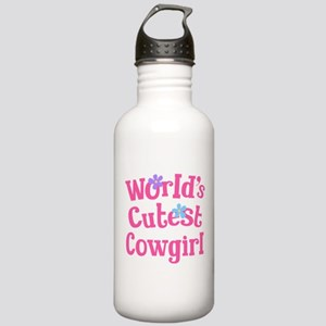 Worlds Cutest Cowgirl Stainless Water Bottle 1.0L