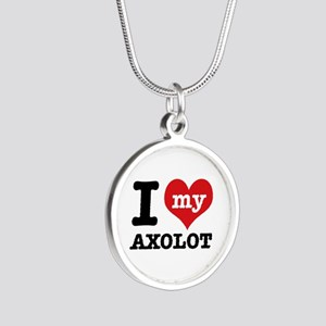 I love my Axolot Silver Round Necklace