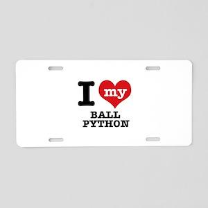 I love my Ball Python Aluminum License Plate