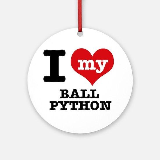 I love my Ball Python Ornament (Round)