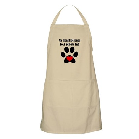 My Heart Belongs To A Yellow Lab Apron