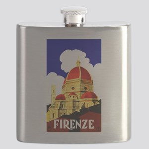 Vintage Florence Italy Travel Flask