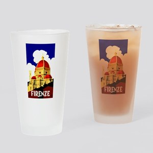 Vintage Florence Italy Travel Drinking Glass