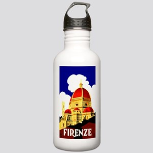 Vintage Florence Italy Travel Water Bottle