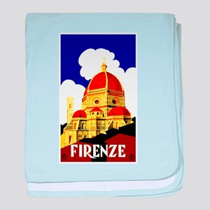 Vintage Florence Italy Travel baby blanket