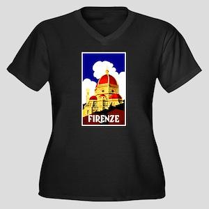Vintage Florence Italy Travel Plus Size T-Shirt