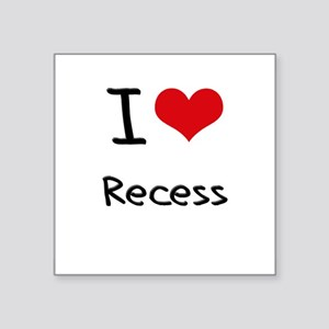 I Love Recess Sticker