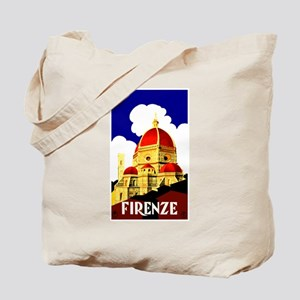 Vintage Florence Italy Travel Tote Bag