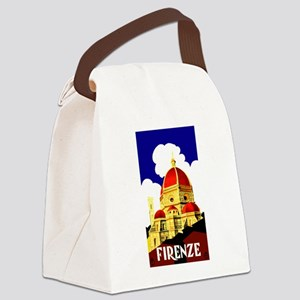 Vintage Florence Italy Travel Canvas Lunch Bag